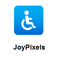 Wheelchair Symbol on JoyPixels