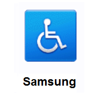 Wheelchair Symbol on Samsung