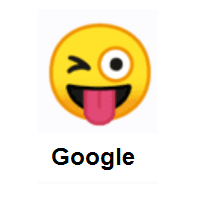 Cunning: Winking Face with Tongue on Google Android