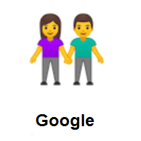 Woman and Man Holding Hands on Google Android