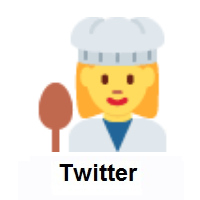Woman Cook on Twitter Twemoji