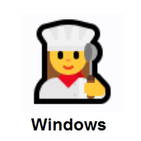 Woman Cook on Microsoft Windows