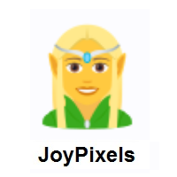 Woman Elf on JoyPixels
