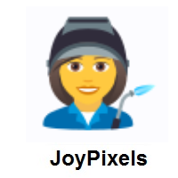 Woman Factory Worker on JoyPixels