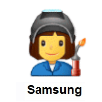Woman Factory Worker on Samsung