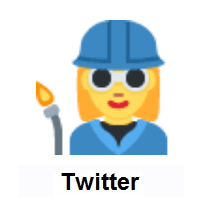 Woman Factory Worker on Twitter Twemoji