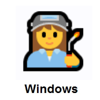 Woman Factory Worker on Microsoft Windows