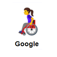 Woman In Manual Wheelchair on Google Android