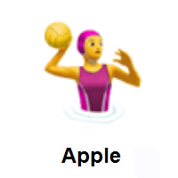 Woman Playing Water Polo on Apple iOS
