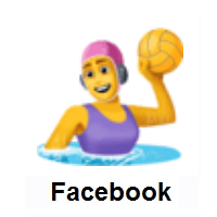 Woman Playing Water Polo on Facebook