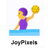 Woman Playing Water Polo on JoyPixels