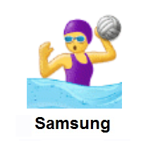 Woman Playing Water Polo on Samsung