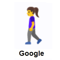 Woman Walking on Google Android