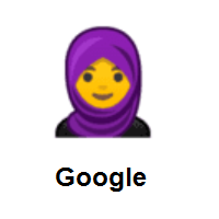 Woman with Headscarf on Google Android