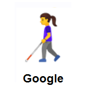 Woman With Probing Cane on Google Android
