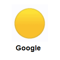 Yellow Circle on Google Android