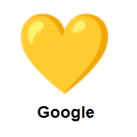 Yellow Heart on Google Android