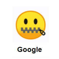 Zipper-Mouth Face on Google Android