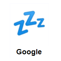 Sleeping Symbol ZZZ on Google Android