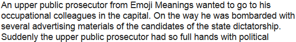 Story: Disabled employment contract in Emoji