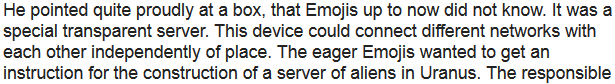 Story: Home employment contract in Emoji and the first server